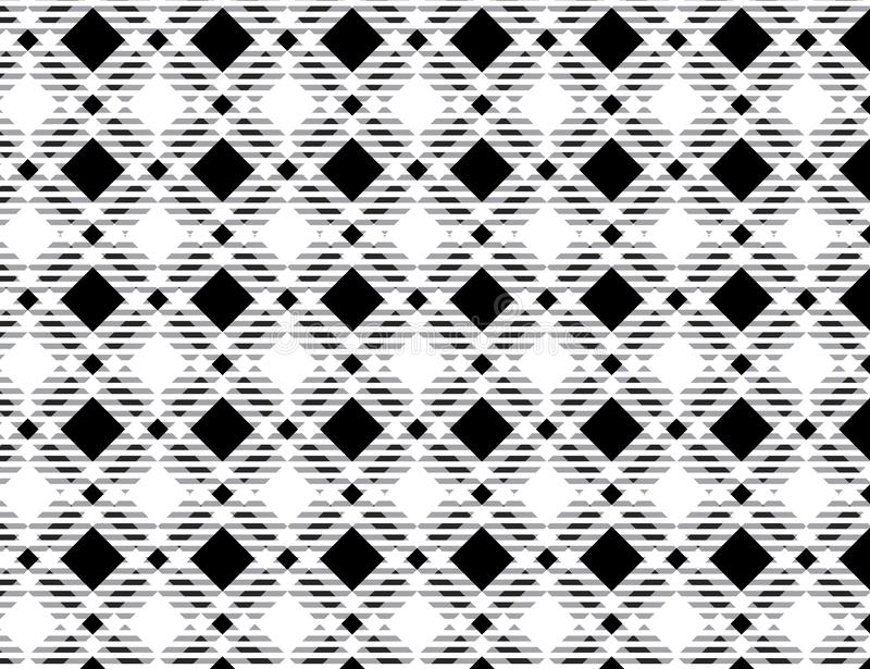 Black and white tartan plaid pattern.- Vector illustration.-EPS-10 vector illustration