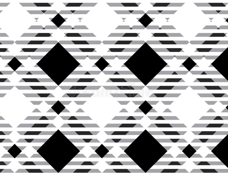 Black and white tartan plaid pattern.- Vector illustration.-EPS-10 royalty free illustration