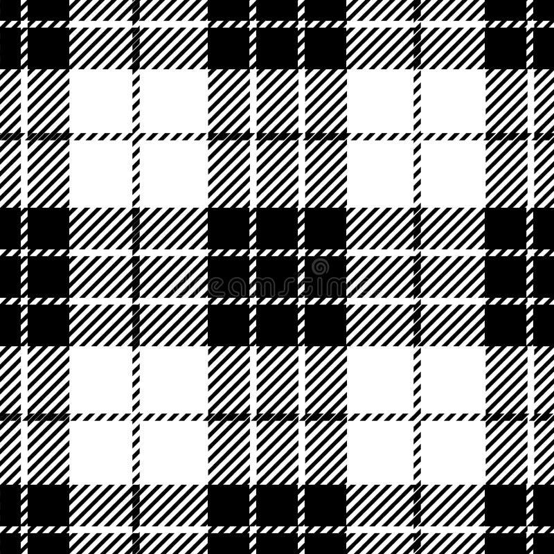 Black And White Tartan Plaid Seamless Scottish Pattern. Design of clan Munro vector illustration