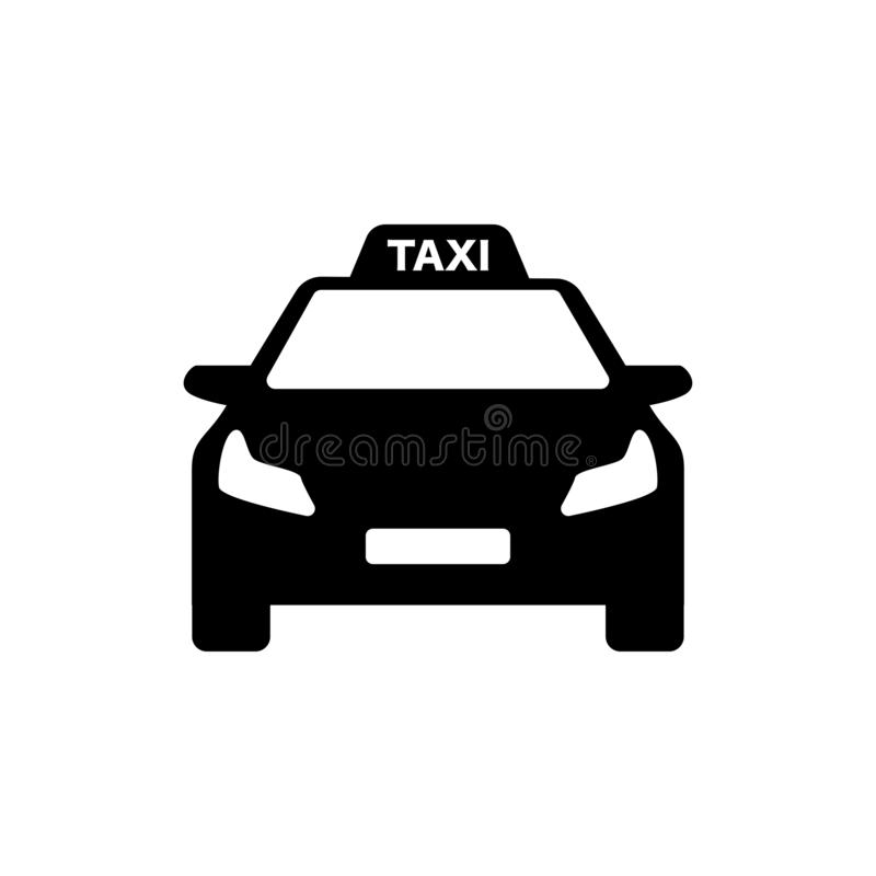 Black and white taxi logo modern car royalty free illustration