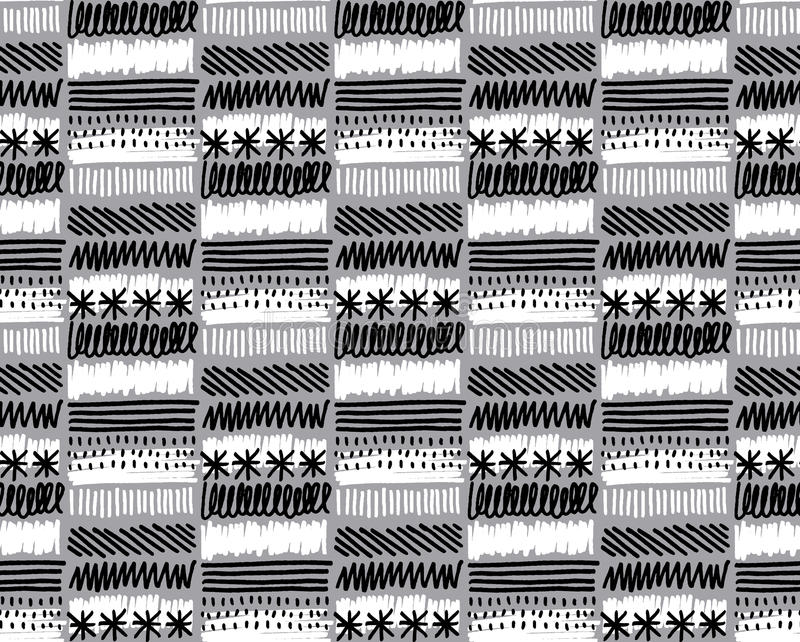 Black and white texture. Hand made black and white texture vector illustration