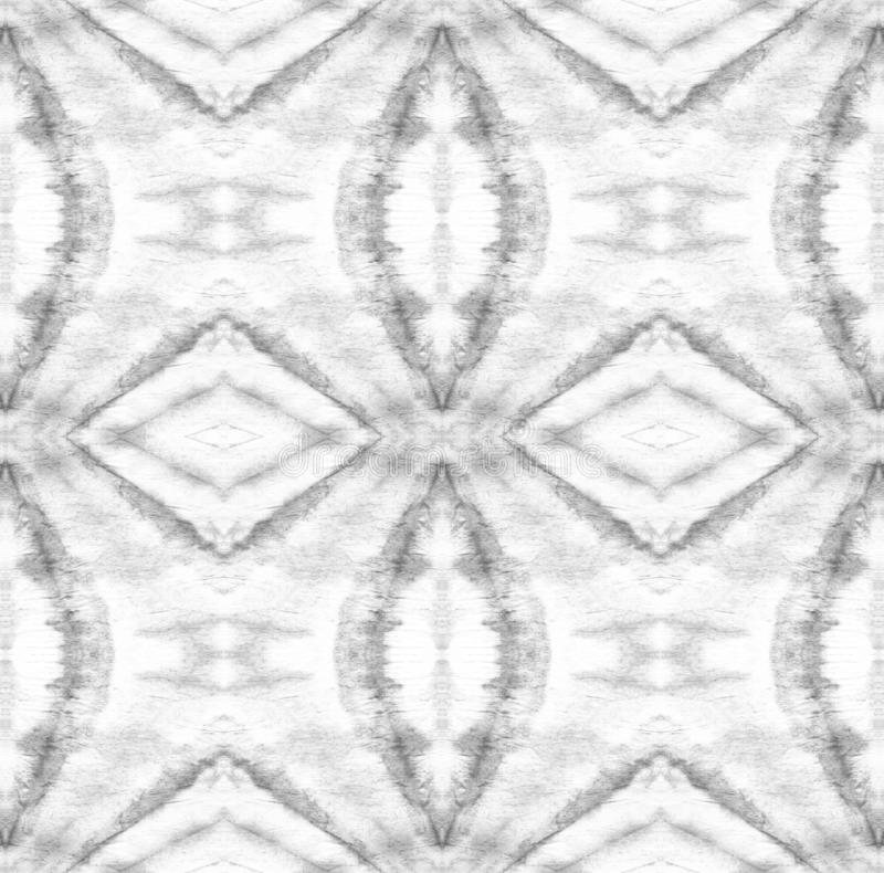 Tie Dye Pattern. Black and White Tie Dye Pattern. Shibori seamless print. Watercolor hand drawn batik. Summer ink japan illustration. Handmade watercolour shirt royalty free illustration
