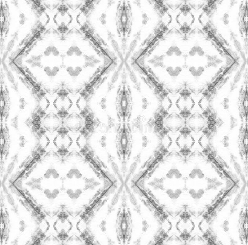 Tie Dye Pattern. Black and White Tie Dye Pattern. Watercolor hand drawn batik. Summer ink japan illustration. Handmade watercolour shirt tie dye pattern. Aztec royalty free illustration
