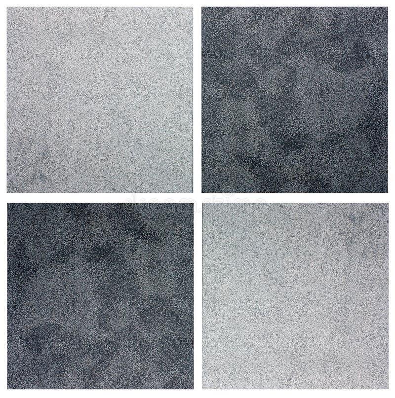 Black and white tiles stock photos