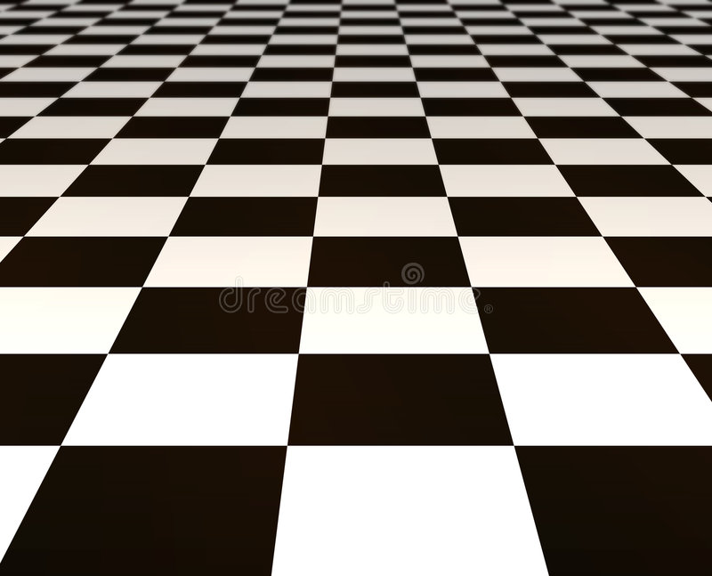 Black and white tiles royalty free illustration