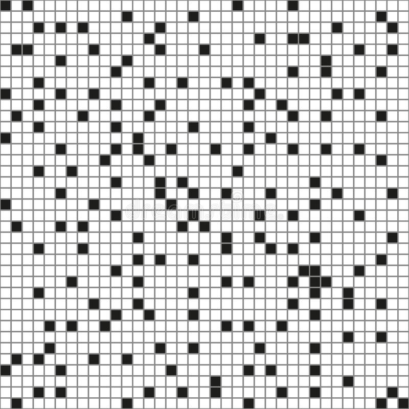 Black and white tiles. Seamless pattern. Good design royalty free illustration