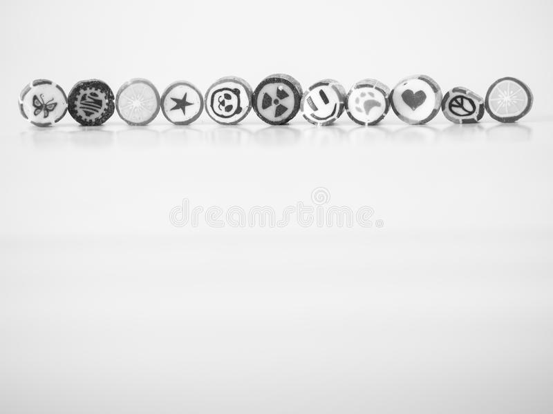 Black and white tone. You can find smiley face candy cane.  stock photos
