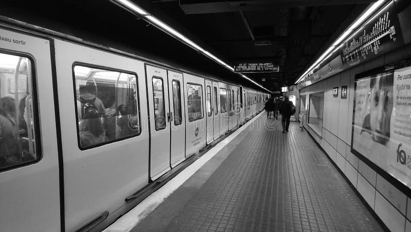 Barcelona Metro Station royalty free stock image