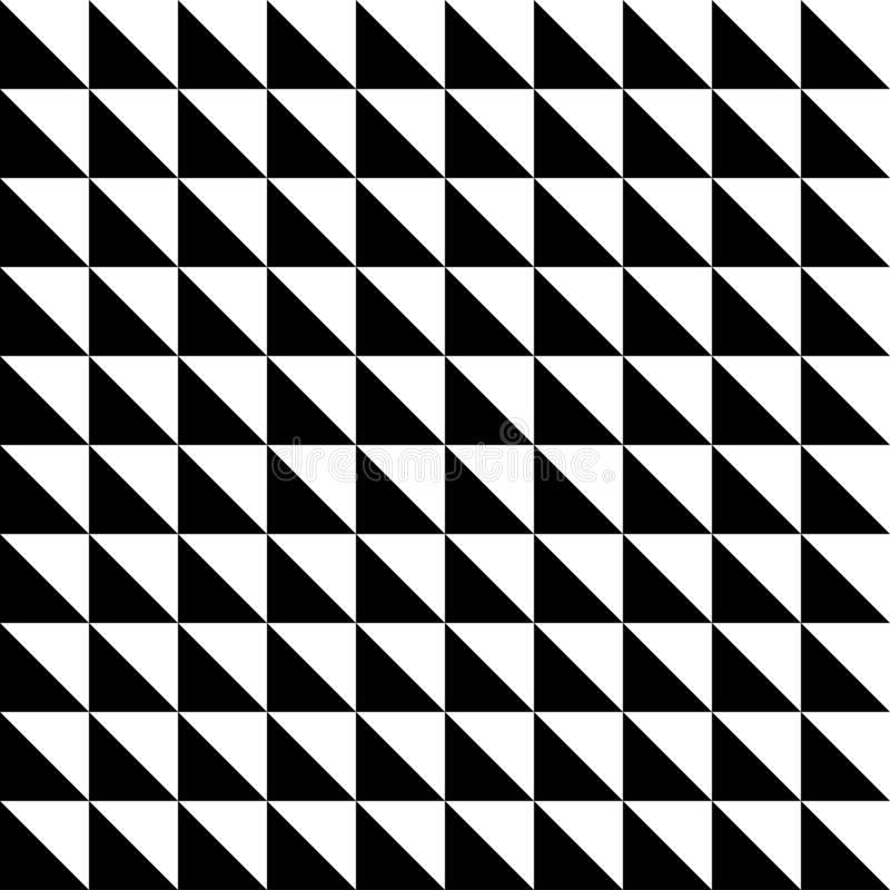 Fun Black and white triangle background, texture, pattern. Black and white triangle background, texture, pattern stock illustration