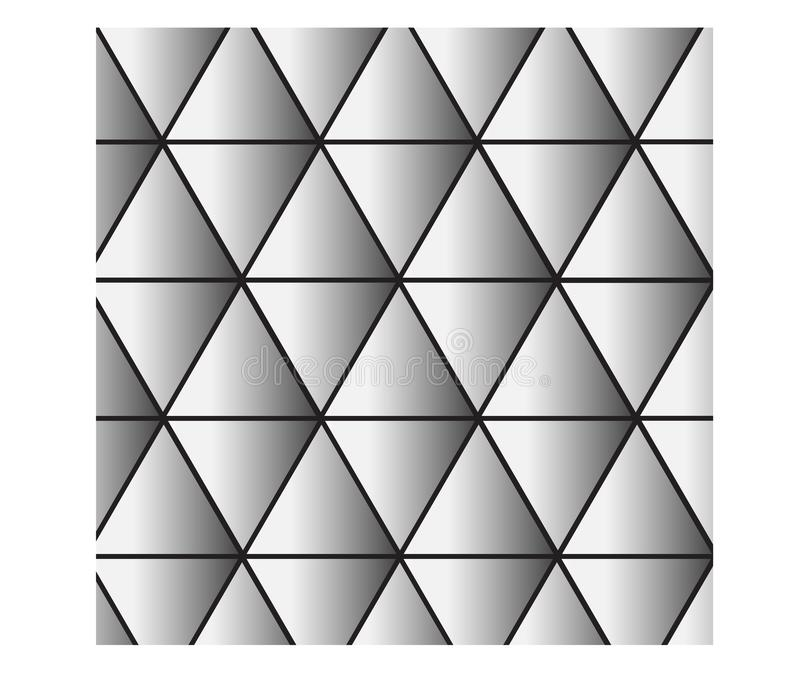 Black and white triangle background - vector illustration royalty free illustration