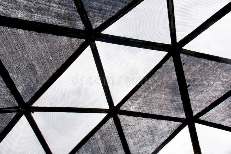 Black and white triangle roof dome texture background royalty free stock images