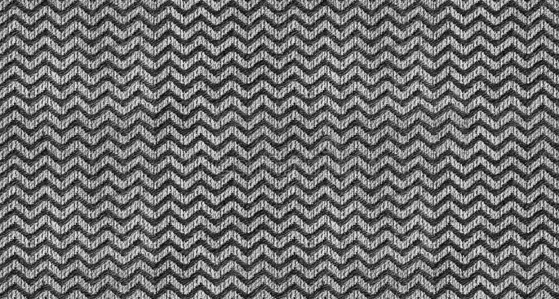 Black and white triangle shape wave textile seamless pattern texture background. Repetitive triangle textile zig zag shape pattern vector illustration