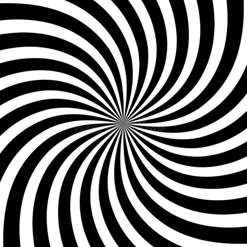 Black and white twirl background vector royalty free illustration