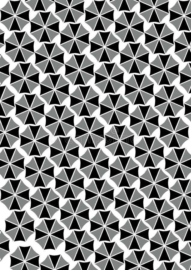 Black and white umbrella patterns royalty free stock photography