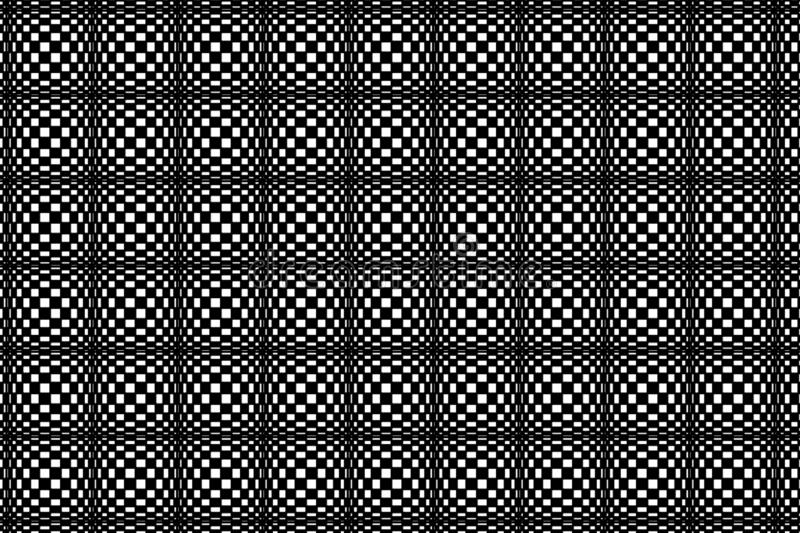 Black and white unusual circular mesh abstract texture pattern background for print and design. vector illustration