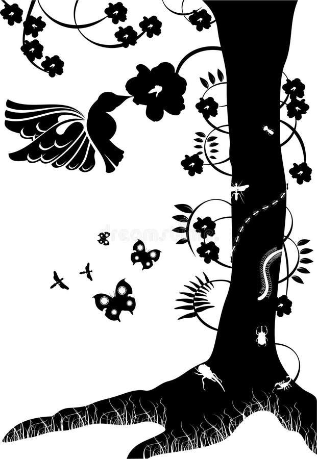Black and white vector stock illustration
