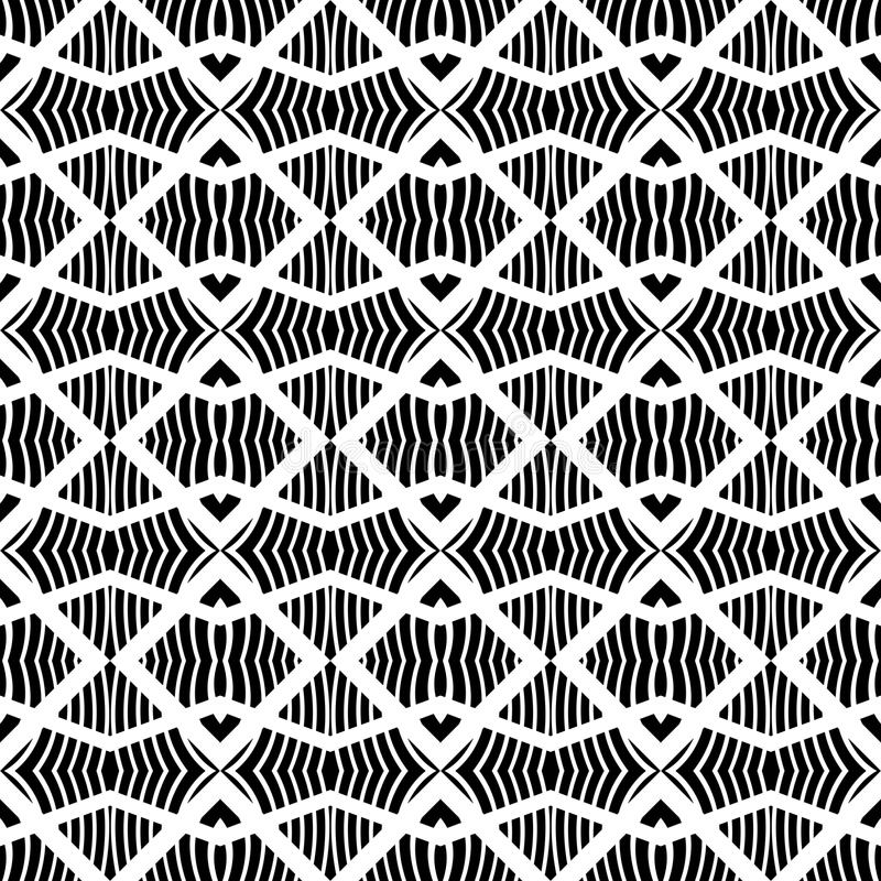 Black and white vector geometric modern chevron at work monochrome. This patern uses for web site background web using color printing card macing laptop royalty free illustration