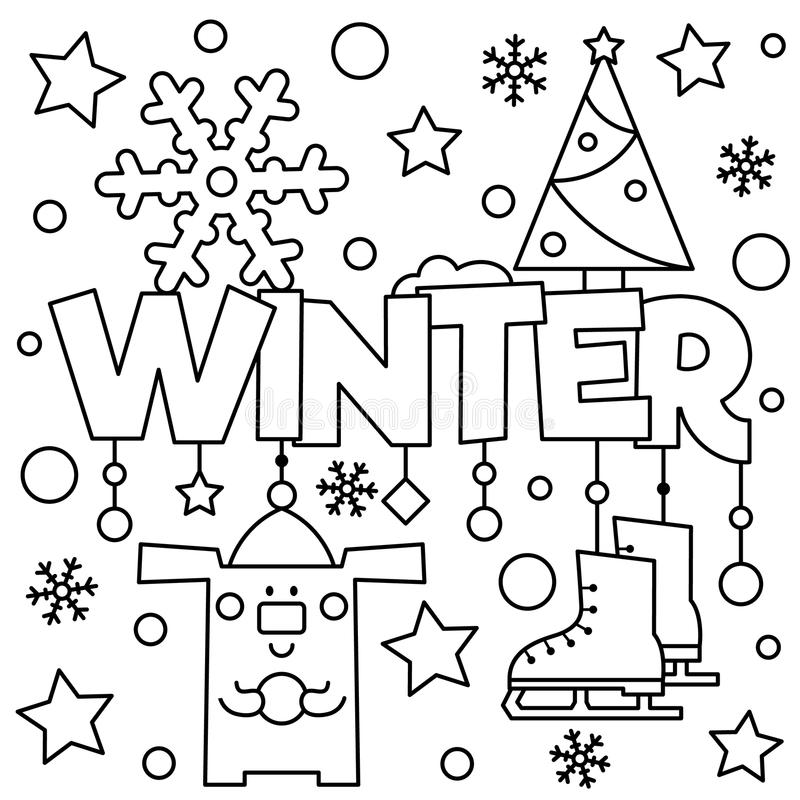 Black and white vector illustration. Coloring page. royalty free stock images