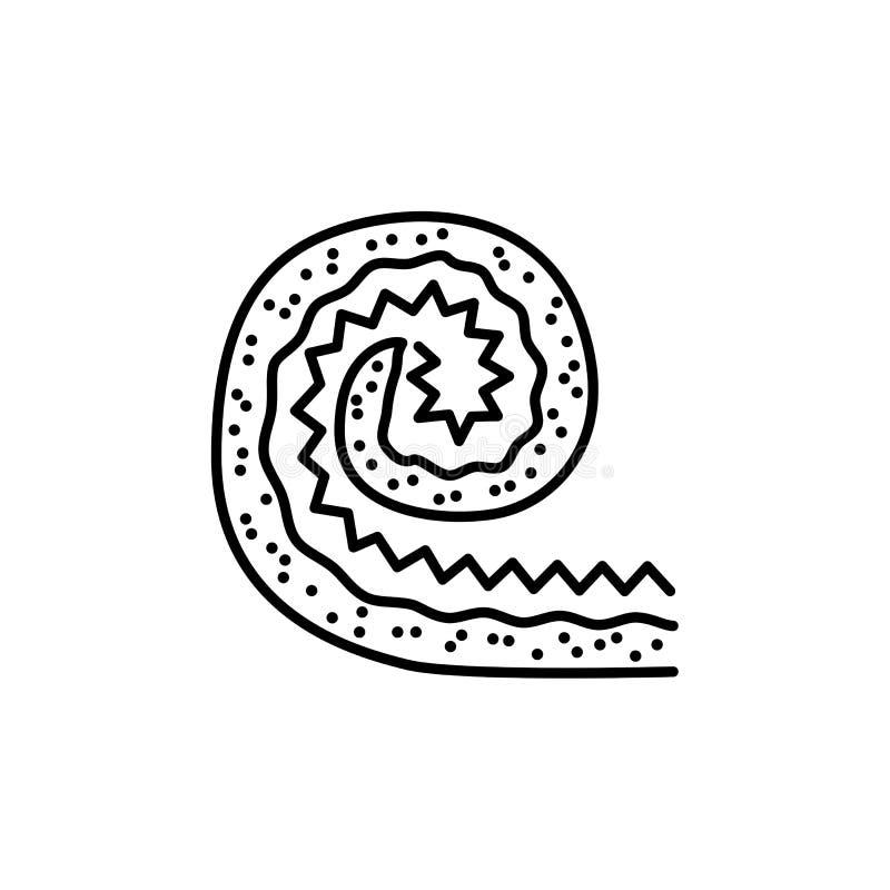 Black & white vector illustration of lawn roll for house yard, s stock illustration