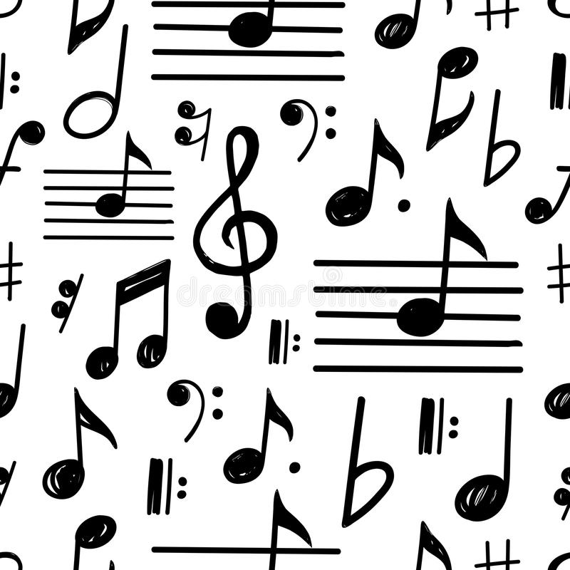 music notes vector seamless pattern stock vector illustration of rh dreamstime com Music Note Clip Art Music Notes