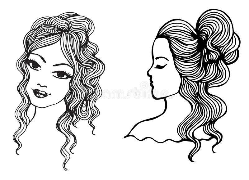Black and white vector sketches royalty free illustration