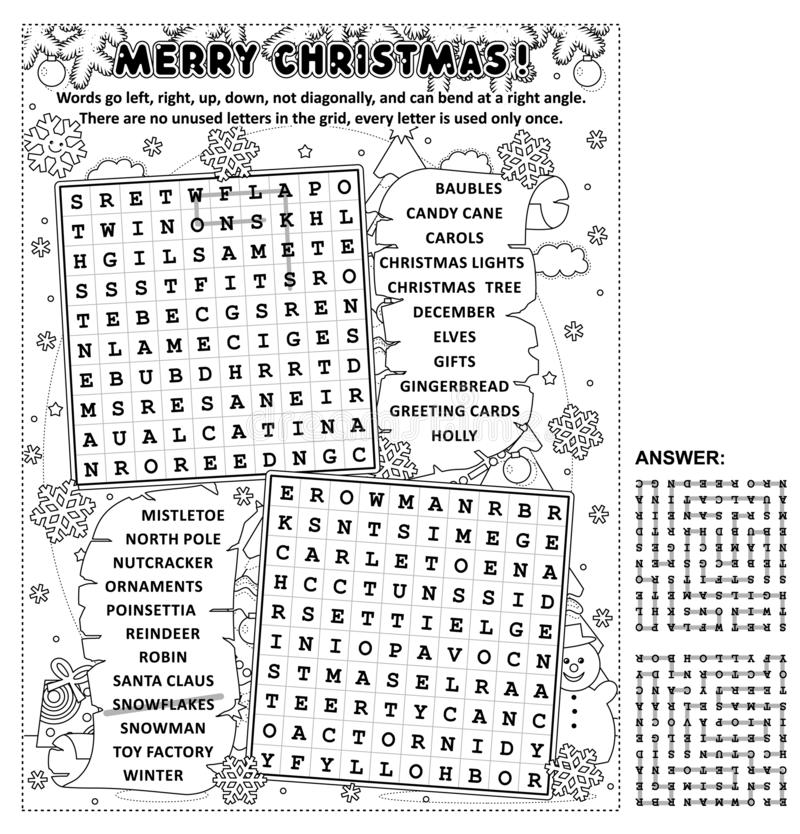 Wordsearch Puzzle Stock Illustrations 151 Wordsearch
