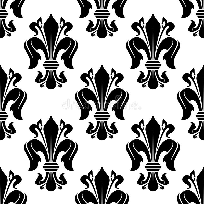 Black And White Victorian Floral Pattern Stock Vector