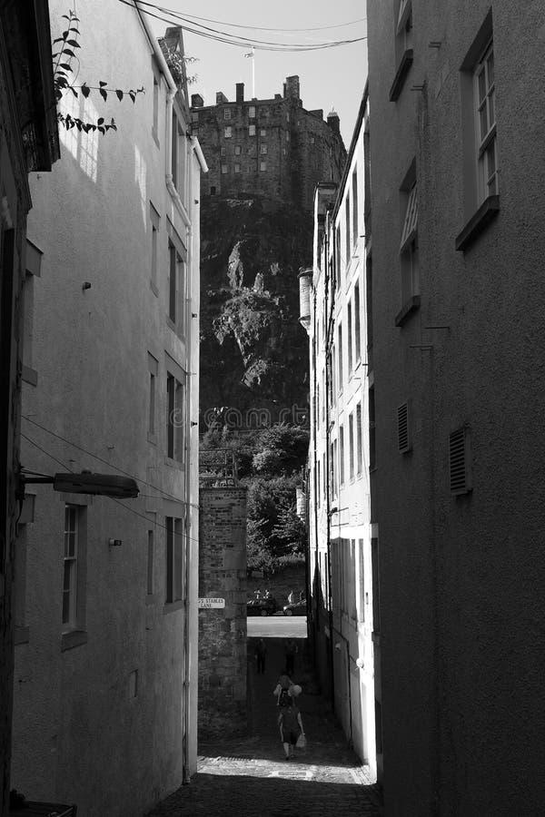 My vision of Edinburgh castle stock photos