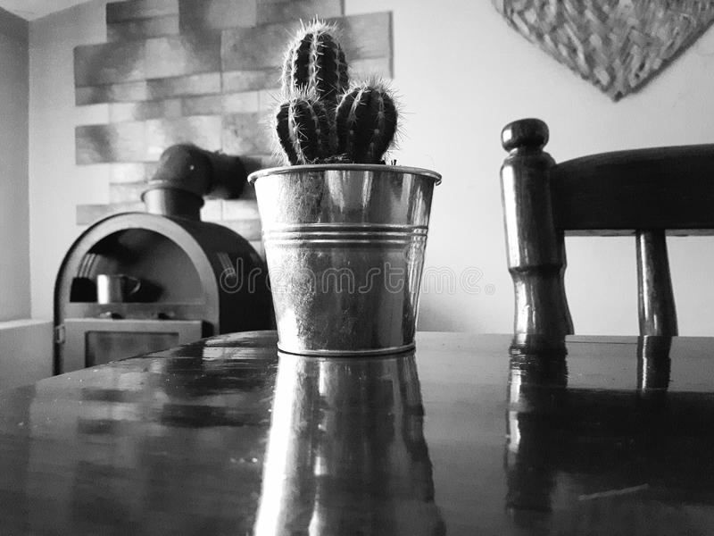 Black and white arrangement stock image