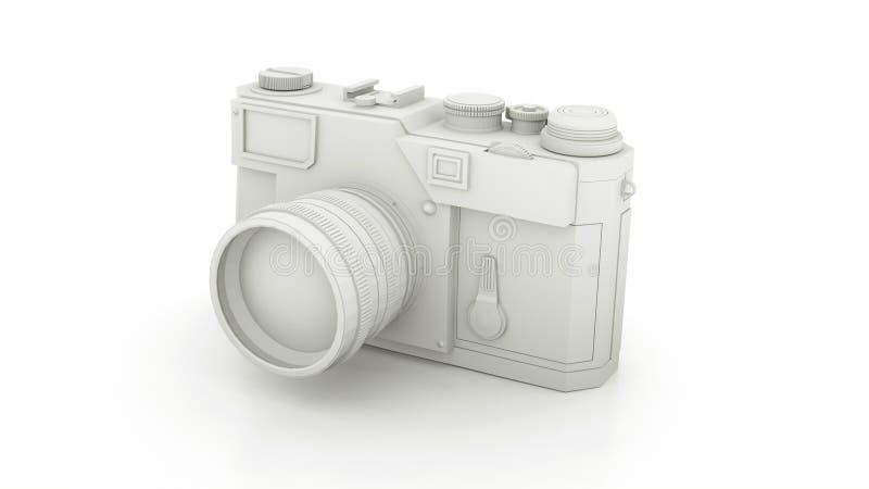 Black and White Vintage Camera. 3D illustration.  vector illustration
