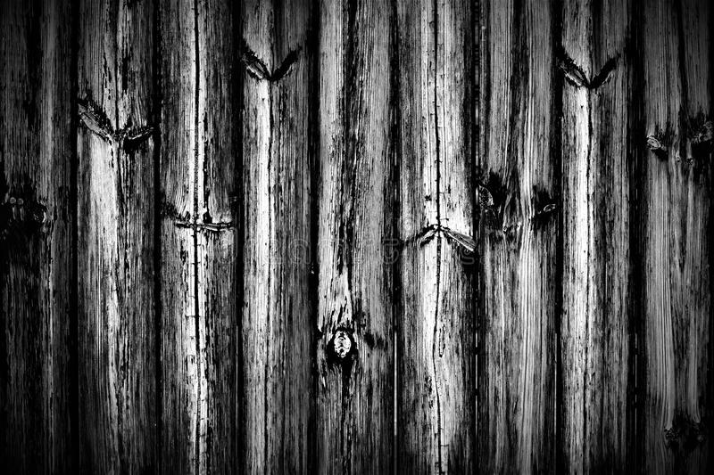 Black and white vintage retro old wood plank texture background. royalty free stock photo