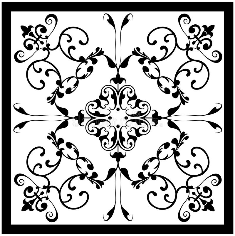 Black white vintage tile royalty free stock photography