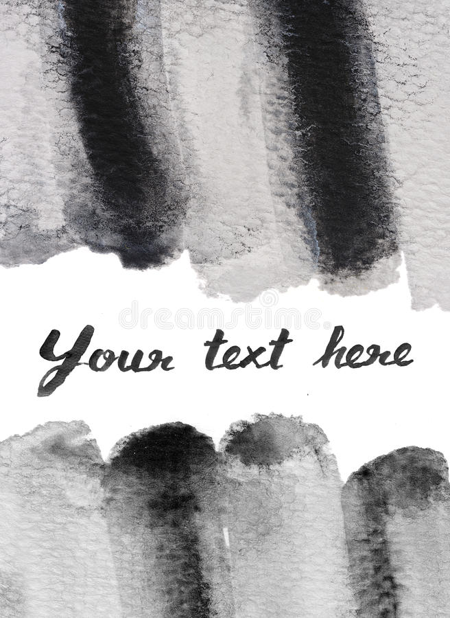 Black and white water color background. Texture stock illustration