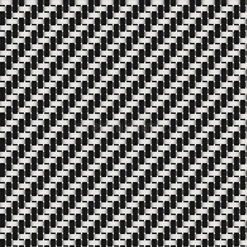 Black and White Weave stock illustration