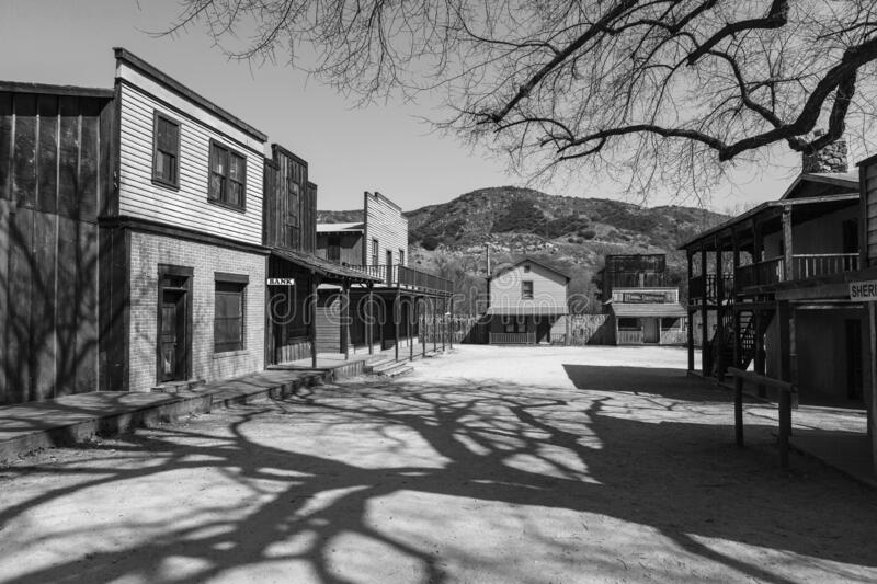 Black and White Western Town royalty free stock photos