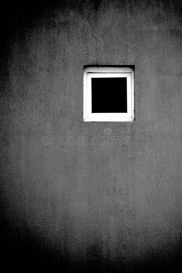 Black white window artistic concept. Solo single loneliness stock images