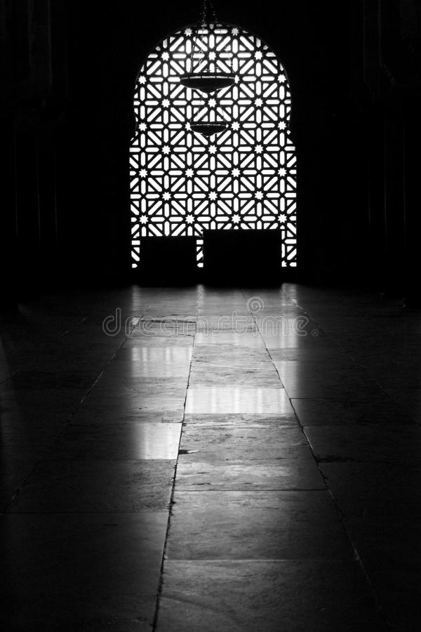Black and White window royalty free stock image