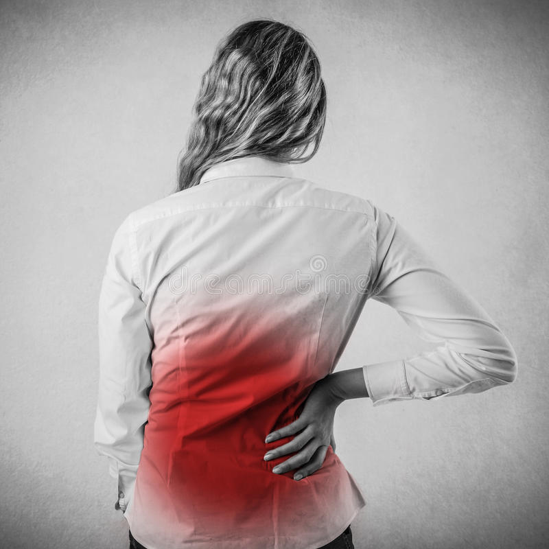 Download Black And White Woman With Backache Stock Photo - Image of solution, concept: 39503814