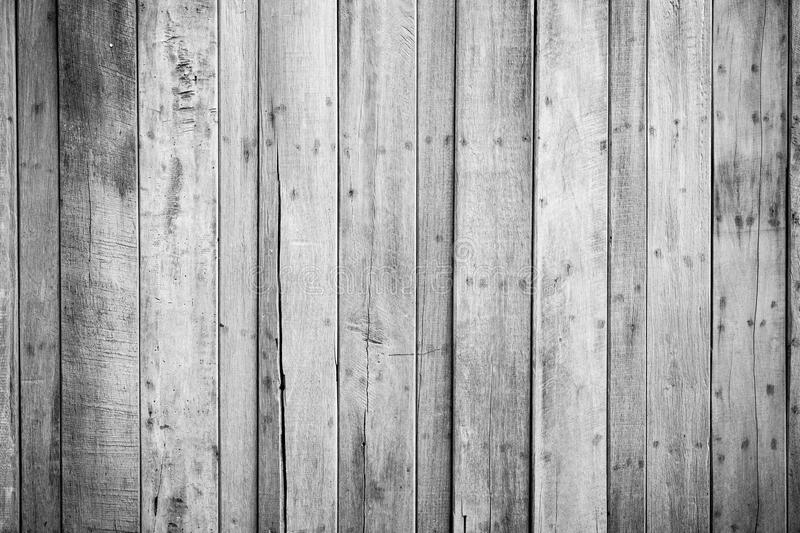 Black And White Wood Plank Wall Texture Background Stock