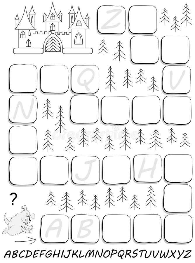 Download Black And White Worksheet With Exercise For Study English Alphabet Draw Missing Letters In
