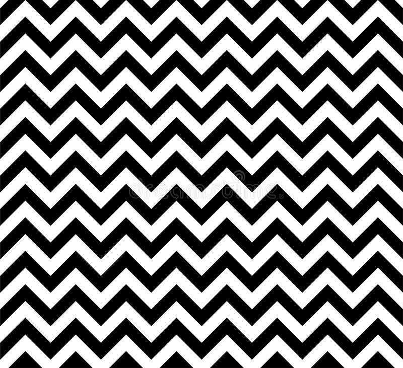 Black and white Zig zag seamless vector pattern royalty free illustration