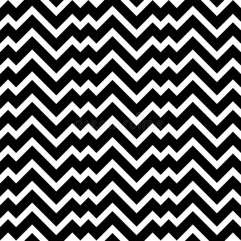 Black and white zigzag chevron minimal simple seamless pattern vector illustration