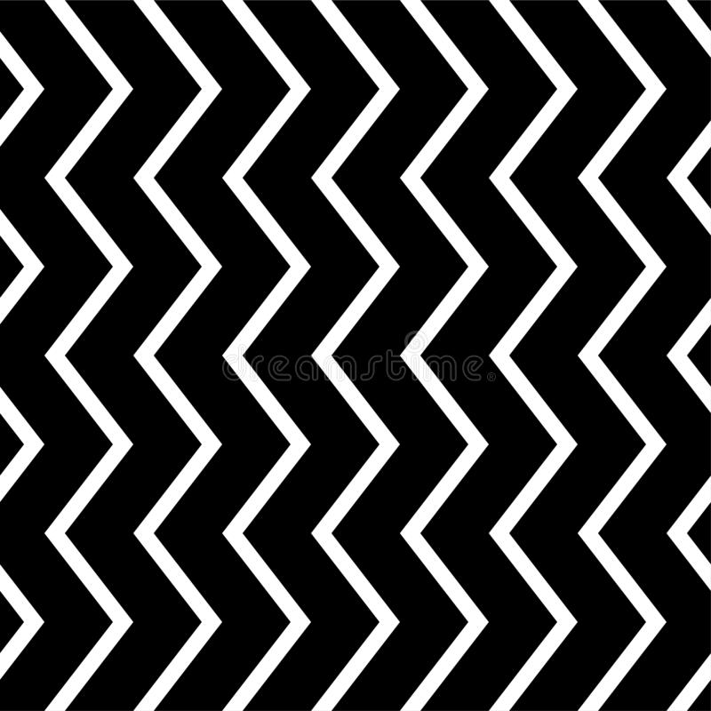 Black and white zigzag chevron pattern, seamless zig zag line texture abstract geometry background trendy minimalist decor. Paper, regular, geometric, graphic vector illustration