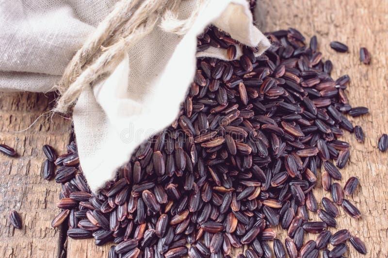 Black wild rice stock photo