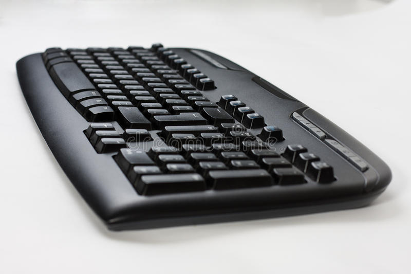 Black wireless computer keyboard royalty free stock images