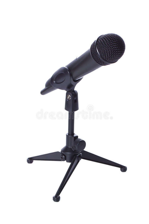 Download Black Wireless Mic On Stand Stock Photo - Image: 23449478