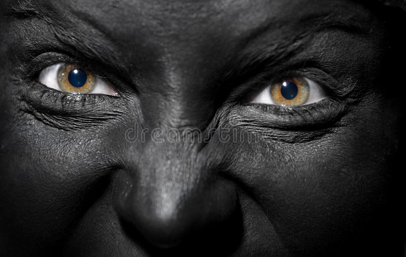 Black witch royalty free stock photo