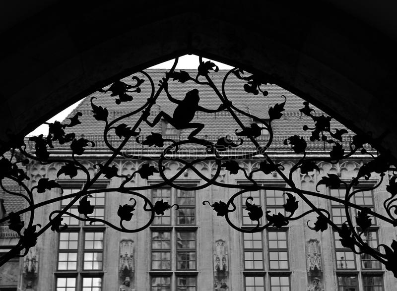 Black and withe details stock photo