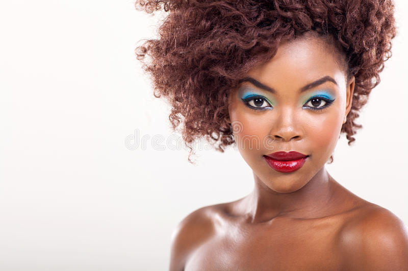 Black woman beauty stock photography