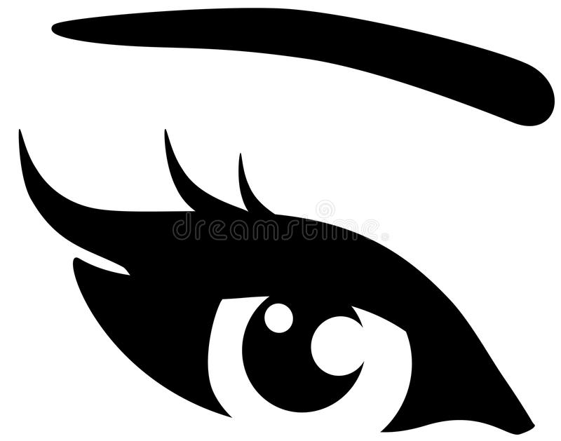 Download Black woman eye stock vector. Image of looking, fashion - 31482177